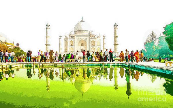 Wall Art - Photograph - India, The Taj Mahal K1 by Humorous Quotes
