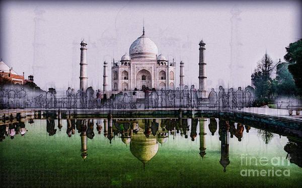 Wall Art - Photograph - India, The Taj Mahal K2 by Humorous Quotes