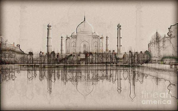 Wall Art - Photograph - India, The Taj Mahal K3 by Humorous Quotes