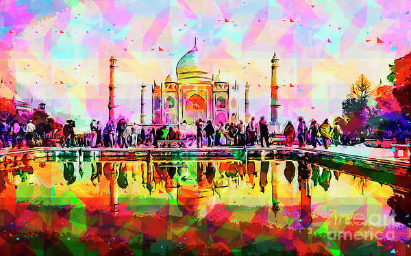 Wall Art - Photograph - India, The Taj Mahal K4 by Humorous Quotes