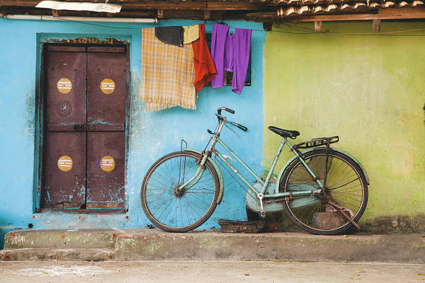 Photograph - Indian Bicycle by Maria Heyens