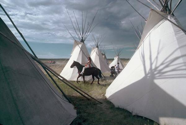 Tent Photograph - Indian Camp In Montana, United States - by Gerard Sioen