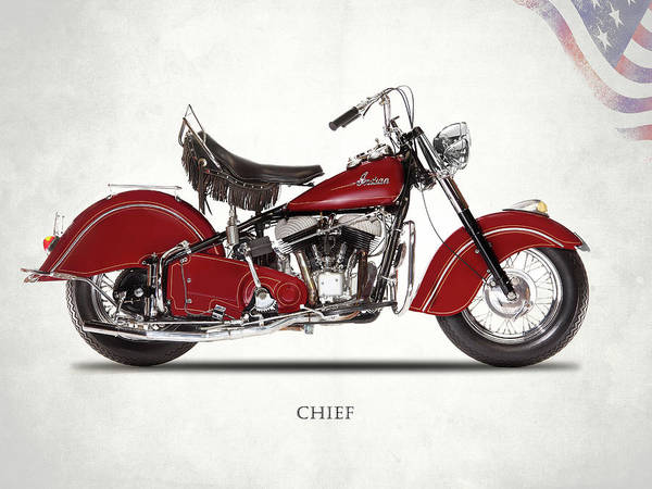 Chiefs Photograph - Indian Chief 1947 by Mark Rogan