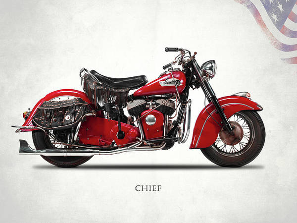 Chiefs Photograph - Indian Chief 1950 by Mark Rogan