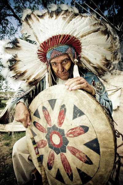 Indigenous People Photograph - Indian Chief by Mlenny