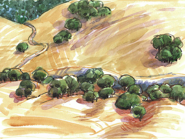 Painting - Indian Creek Valley From Shell Ridge by Judith Kunzle