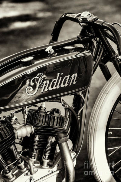 Wall Art - Photograph - Indian Daytona Board Track Sepia by Tim Gainey