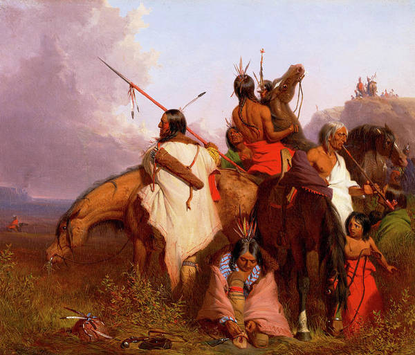 Wall Art - Painting - Indian Group, 1845 by Charles Deas