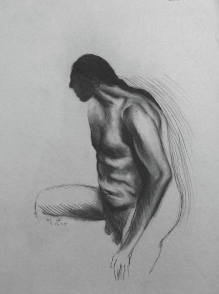Drawing - Indian Man by Anthony Falbo