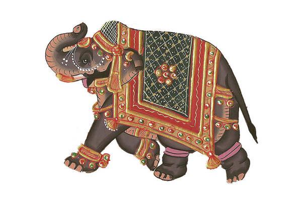 Photograph - Indian Miniature Painting Of Elephant by Steve Estvanik