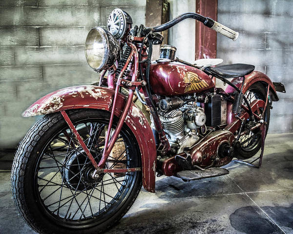 Photograph - Indian Motorcycle by Mary Hone