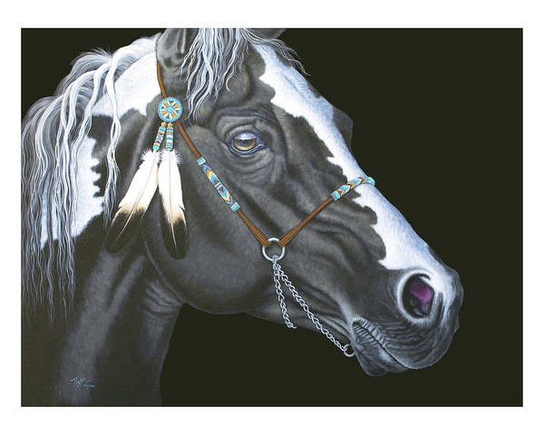 Painting - Indian Paint Horse by Tish Wynne