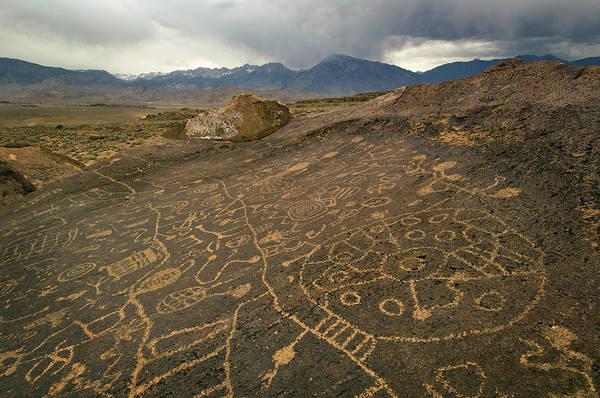 Art Object Photograph - Indian Petroglyphs On Sky Rock Near by Doug Steakley