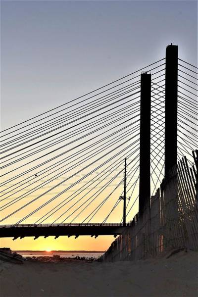 Photograph - Indian River Inlet Bridge Sunset by Kim Bemis