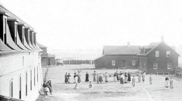 Painting - Indian School, Duck Lake, Saskatchewan, 1912 by Celestial Images