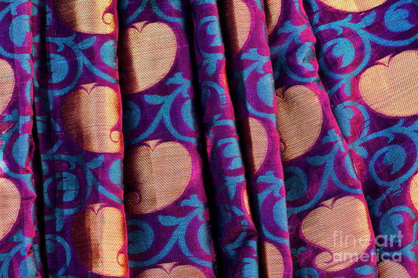 Photograph - Indian Silk Sari Pattern by Tim Gainey