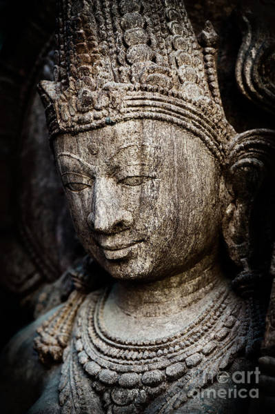 Photograph - Indian Temple Goddess by Tim Gainey