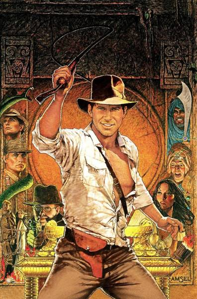 Wall Art - Digital Art - Indiana Jones And The Raiders Of The Lost Ark by Geek N Rock