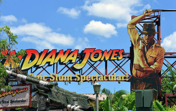 Wall Art - Photograph - Indiana Jones Epic Stunt Spectacular Sign by David Lee Thompson