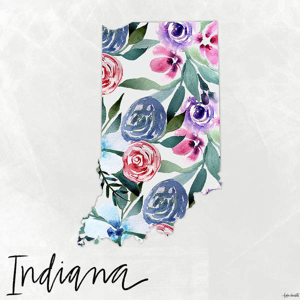 Wall Art - Mixed Media - Indiana by Katie Doucette
