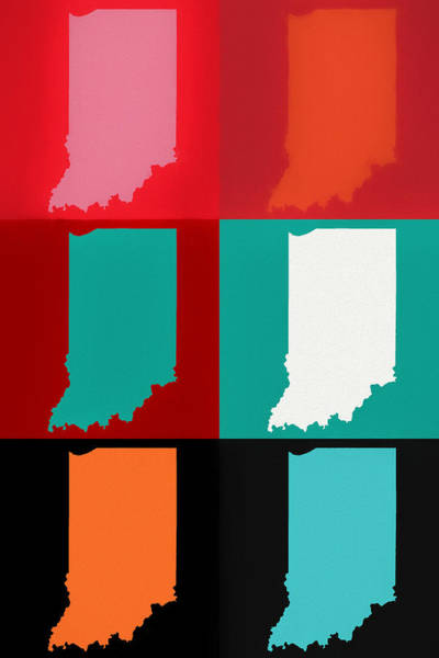 Wall Art - Mixed Media - Indiana Pop Art by Dan Sproul