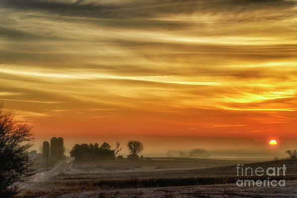 Photograph - Indiana Sunrise With Mist by Thomas R Fletcher