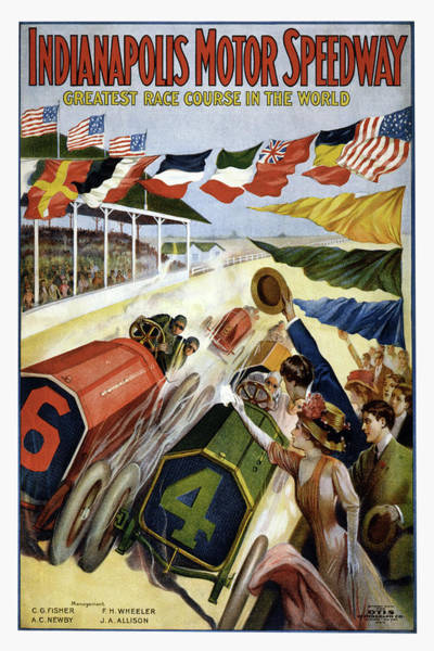 Wall Art - Digital Art - Indianapolis Motor Speedway by Peter Chilelli