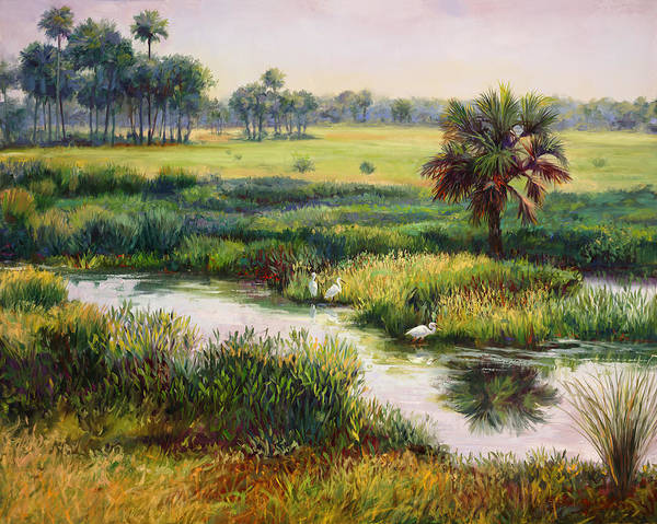 Wall Art - Painting - Indiantown Landscape by Laurie Snow Hein