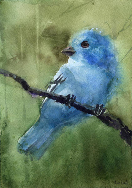 Painting - Indigo Bunting by Sean Seal