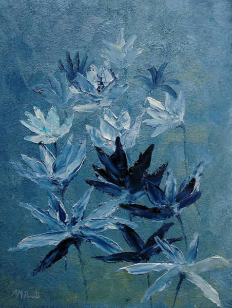 Painting - Indigo Flowers by Angeles M Pomata
