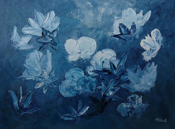 Painting - Indigo Posy by Angeles M Pomata