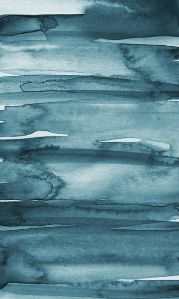 Painting - Indigo Water- Abstract Painting by Linda Woods