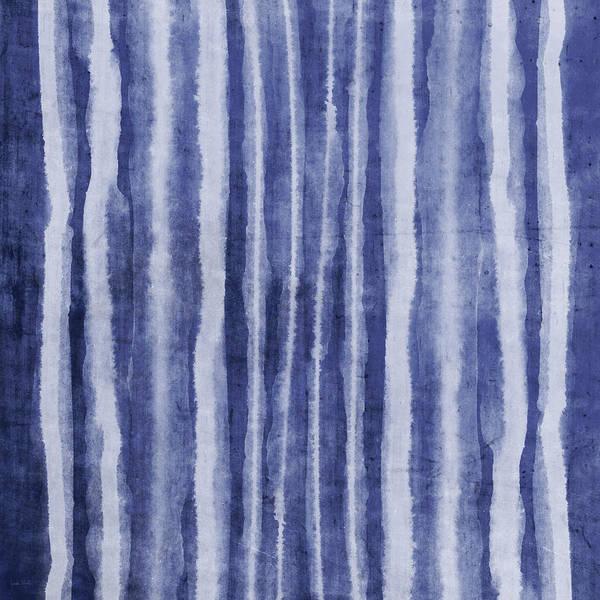 Wall Art - Painting - Indigo Water Lines- Art By Linda Woods by Linda Woods