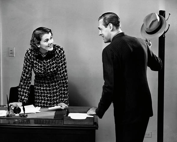Secretary Photograph - Indoor Business Scene by George Marks