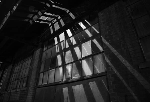 Warehouse Photograph - Industrial Factory At Night by Adam Garelick