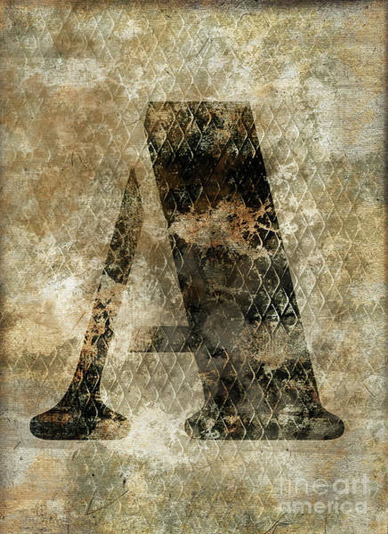 Wall Art - Photograph - Industrial Letter A by Delphimages Photo Creations