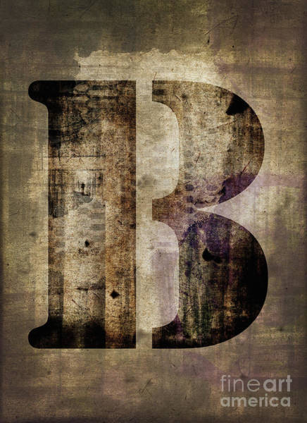 Wall Art - Photograph - Industrial Letter B by Delphimages Photo Creations