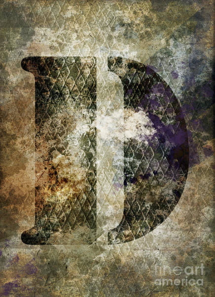Wall Art - Photograph - Industrial Letter D by Delphimages Photo Creations