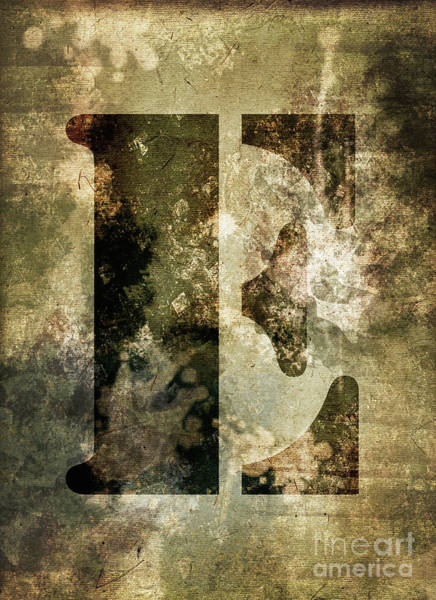 Wall Art - Photograph - Industrial Letter E by Delphimages Photo Creations