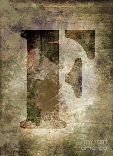 Wall Art - Photograph - Industrial Letter F by Delphimages Photo Creations