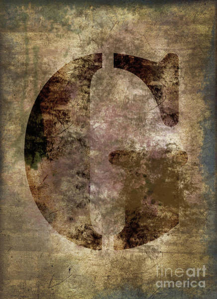 Wall Art - Photograph - Industrial Letter G by Delphimages Photo Creations