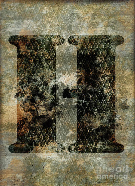 Wall Art - Photograph - Industrial Letter H by Delphimages Photo Creations