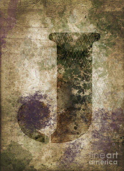Wall Art - Photograph - Industrial Letter J by Delphimages Photo Creations
