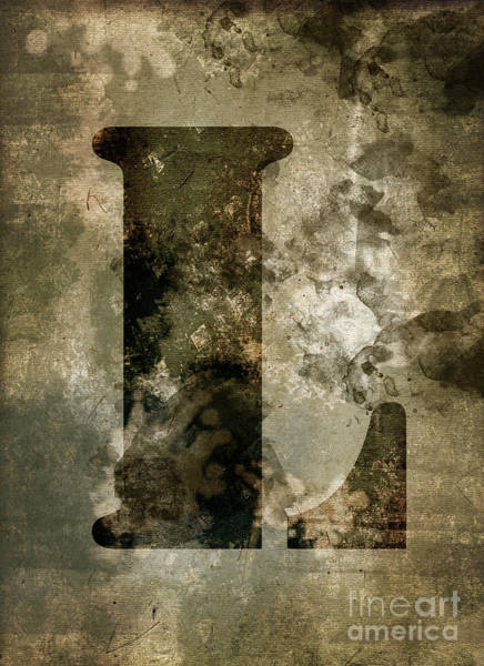 Wall Art - Photograph - Industrial Letter L by Delphimages Photo Creations