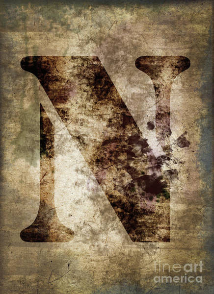 Wall Art - Photograph - Industrial Letter N by Delphimages Photo Creations