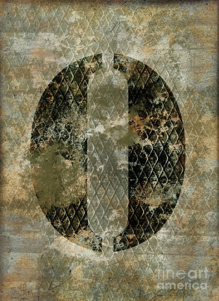 0 Wall Art - Photograph - Industrial Letter O by Delphimages Photo Creations