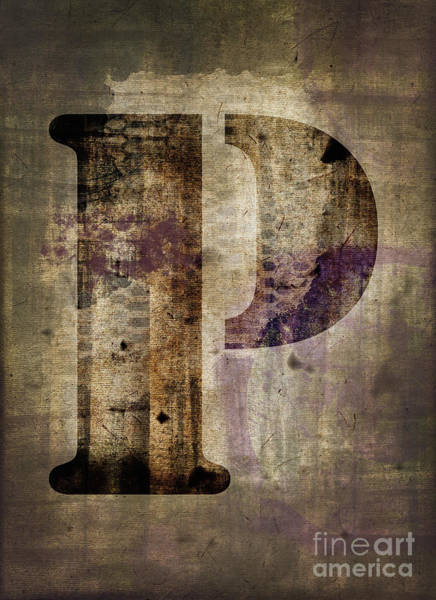 Wall Art - Photograph - Industrial Letter P by Delphimages Photo Creations