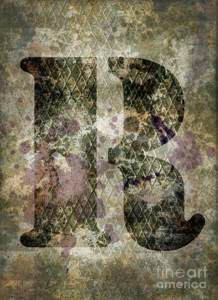 Wall Art - Photograph - Industrial Letter R by Delphimages Photo Creations