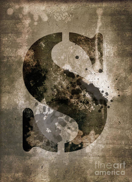Wall Art - Photograph - Industrial Letter S by Delphimages Photo Creations