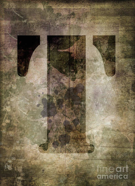 Wall Art - Photograph - Industrial Letter T by Delphimages Photo Creations